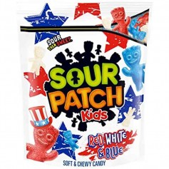 Sour patch kids red white and blue family size