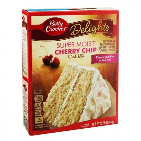 Betty Crocker delight super moist cherry chip