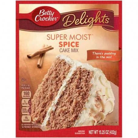 Betty Crocker delight super moist spice