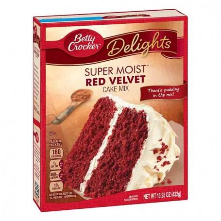 Betty Crocker delight super moist red velvet
