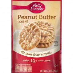 Betty Crocker peanut butter cookie mix 204G