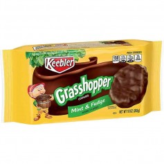 Keebler grasshopper cookie mint and fudge