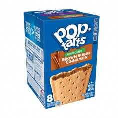 Kellogg's Pop tarts unfrosted brown sugar cinnamon