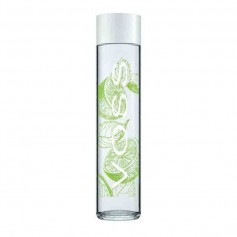 Voss sparkling lime mint glass