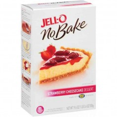 Jell-O no bake strawberry cheesecake