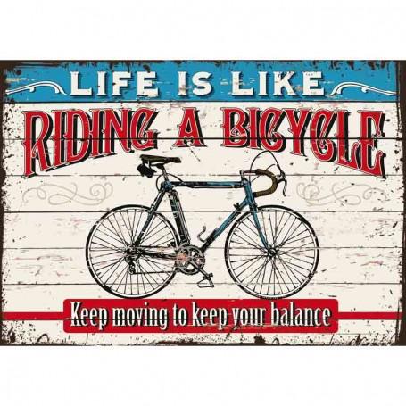 Plaque carton bicycle