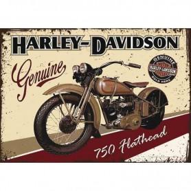 Plaque carton harley davidson