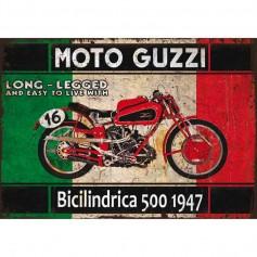 Plaque carton moto guzzi