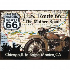 Plaque carton mother road