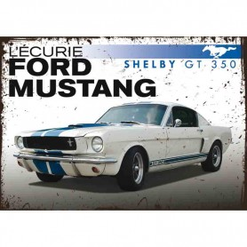 Plaque carton ford mustang shelby