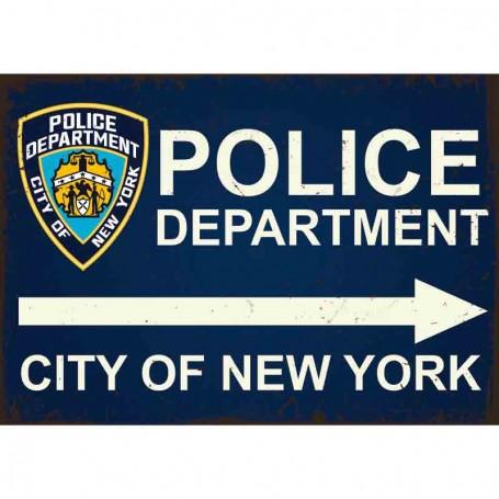 Plaque carton police