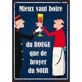 Plaque carton boire du rouge