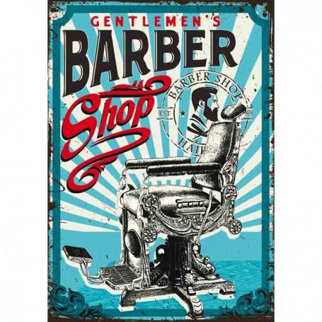 Plaque carton barbershop