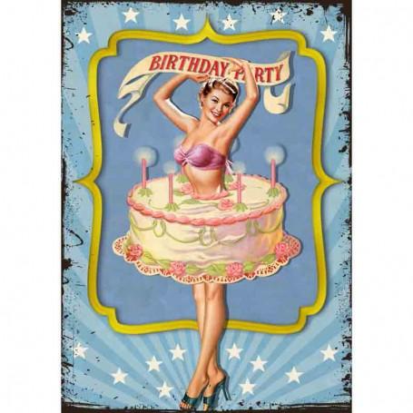 Plaque carton birthday party