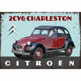 Plaque carton 2CV charleston
