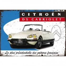 Plaque carton DS cabriolet