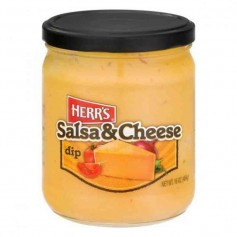 Herr's salsa and cheese