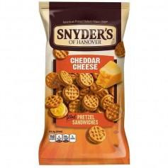 Snyder's pretzel sandwich cheddar cheese