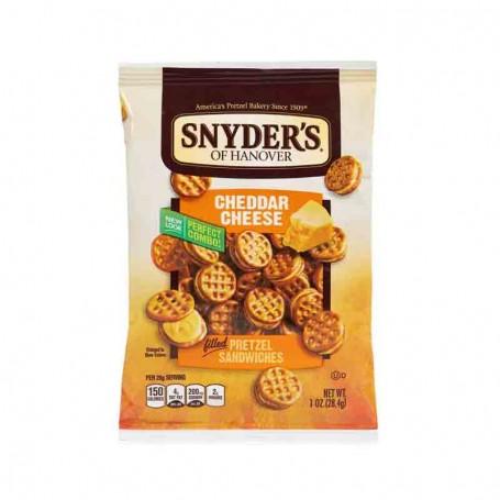 Snyder's cheddar cheese pretzel sandwiches 28G