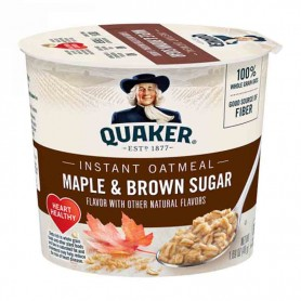 Quaker instant oatmeal malpe and brown sugar