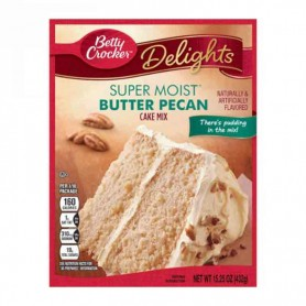 Betty Crocker super moist cake mix butter pecan
