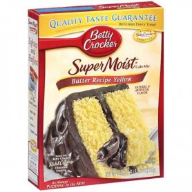 Betty Crocker super moist cake mix butter yellow