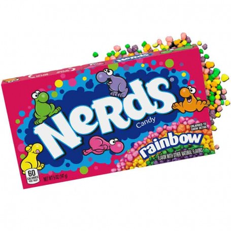 Wonka nerds rainbow mini bonbons multicolor