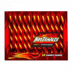 Candy cane hot tamales