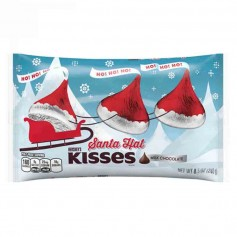 Hershey's kisses santa hat
